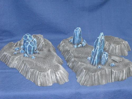 Crystal bleu sur terre hostile